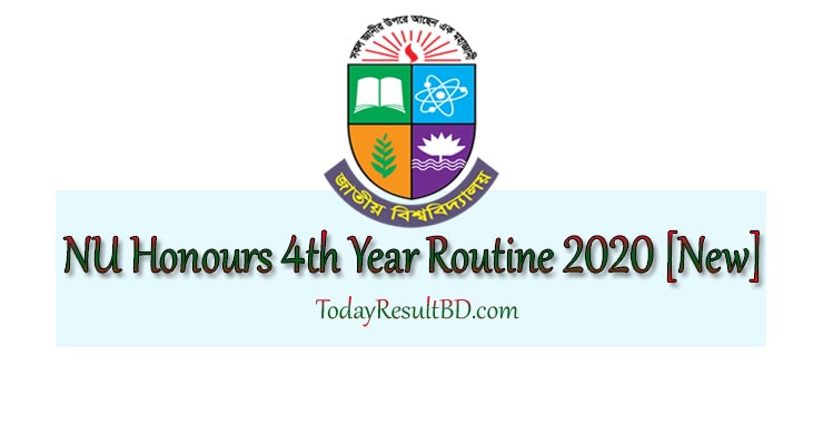 NU Honours 4th Year Exam Routine 2020 - 2021
