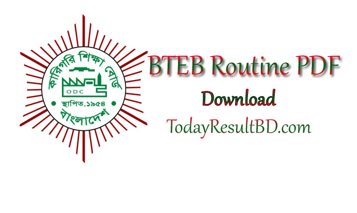 BTEB Exam Routine PDF