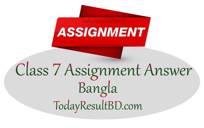 Class 7 Assignment 2021 Bangla Answer
