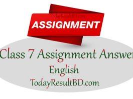 Class 7 English Assignment 2021 Answer 2nd Week