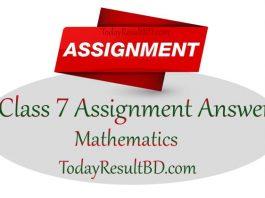 Class 7 Math Assignment 2021 Answer